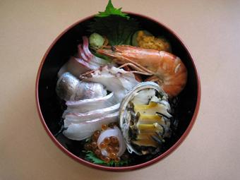 あわび海鮮丼